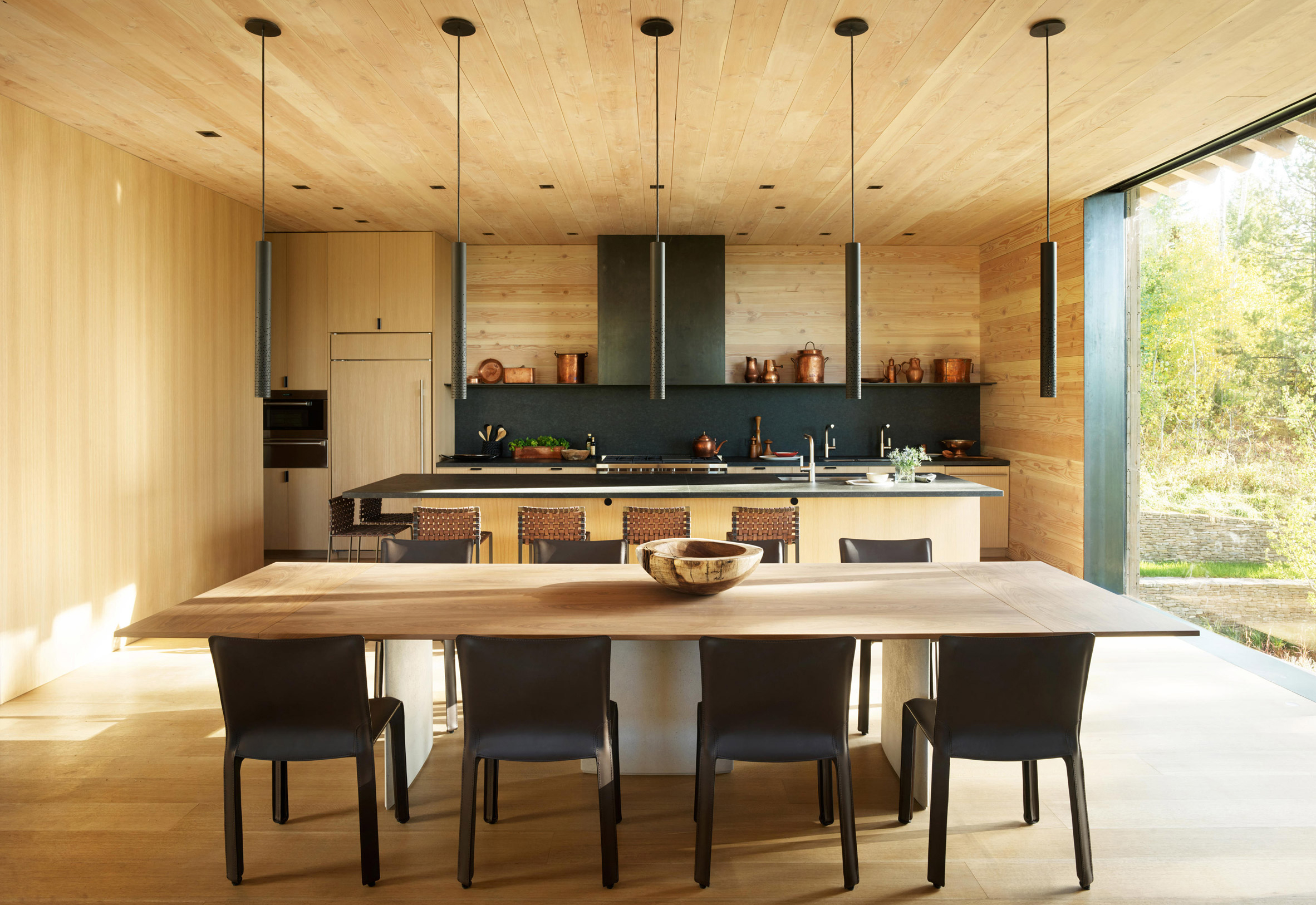 Bright kitchen in house in USA