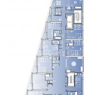 First floor plan of The Aya by Studio Twenty Seven Architecture and Leo A Daly