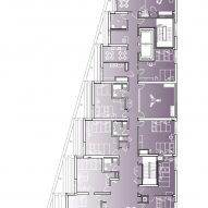 Third floor plan of The Aya by Studio Twenty Seven Architecture and Leo A Daly