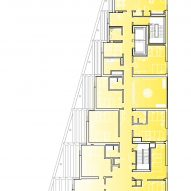 Fourth floor plan of The Aya by Studio Twenty Seven Architecture and Leo A Daly
