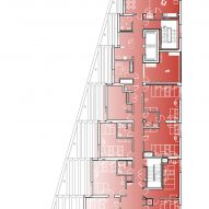Fifth floor plan of The Aya by Studio Twenty Seven Architecture and Leo A Daly