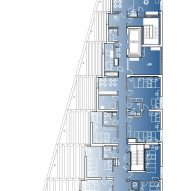 Sixth floor plan of The Aya by Studio Twenty Seven Architecture and Leo A Daly