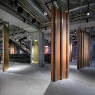 Interior with concrete floor