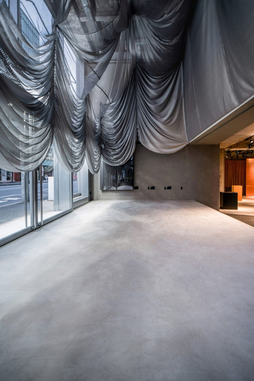 Stage inside Tokyo fashion store
