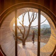 A circular window