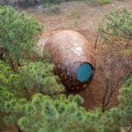 A woodland cabin in China