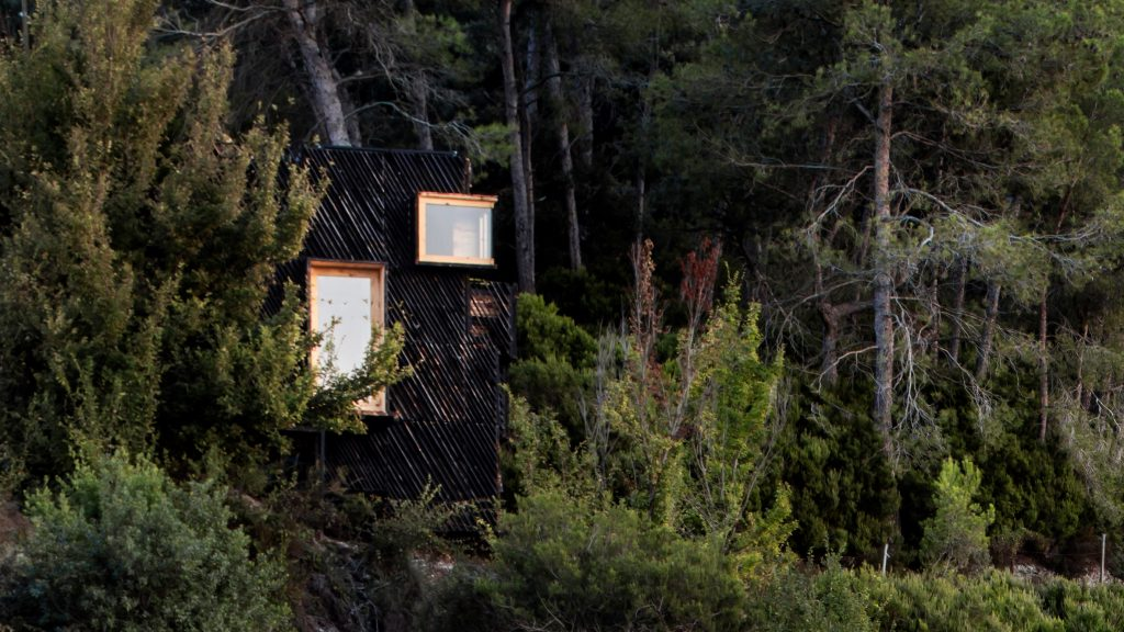 """The Voxel is a """"quarantine cabin"""" made entirely from locally sourced materials"""