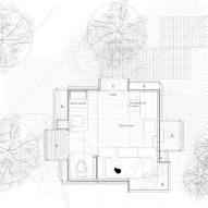 Floor plan of The Voxel cabin