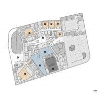 Basement plan of Tianjin Juilliard School by Diller Scofidio + Renfro