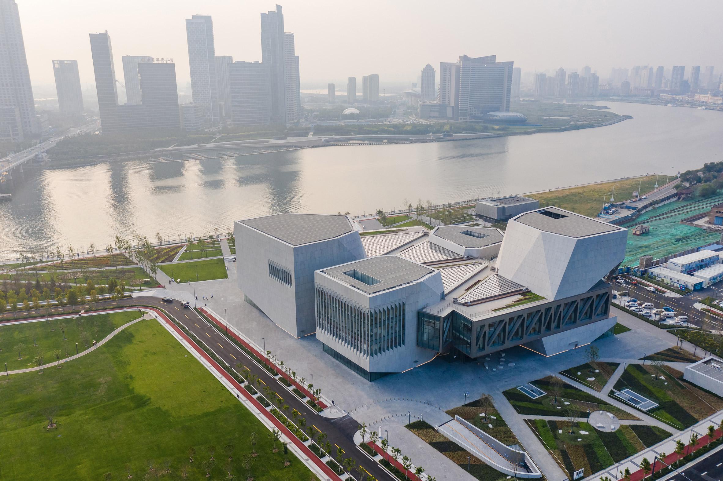 A music school beside Hai River in China