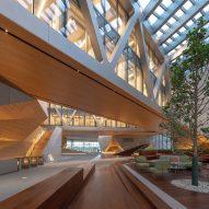 The lobby of Tianjin Juilliard School