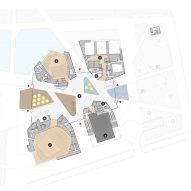 Ground floor plan of Tianjin Juilliard School by Diller Scofidio + Renfro
