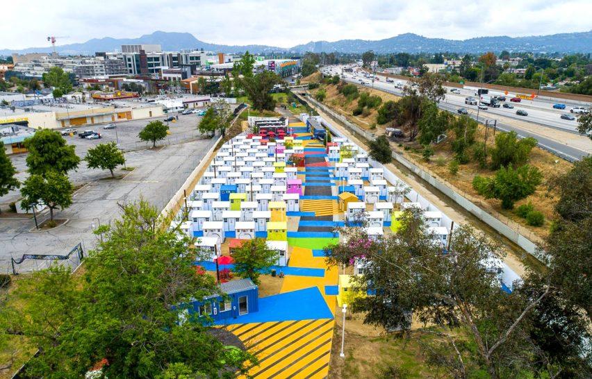 Alexandria Park Tiny Home Village in Los Angeles