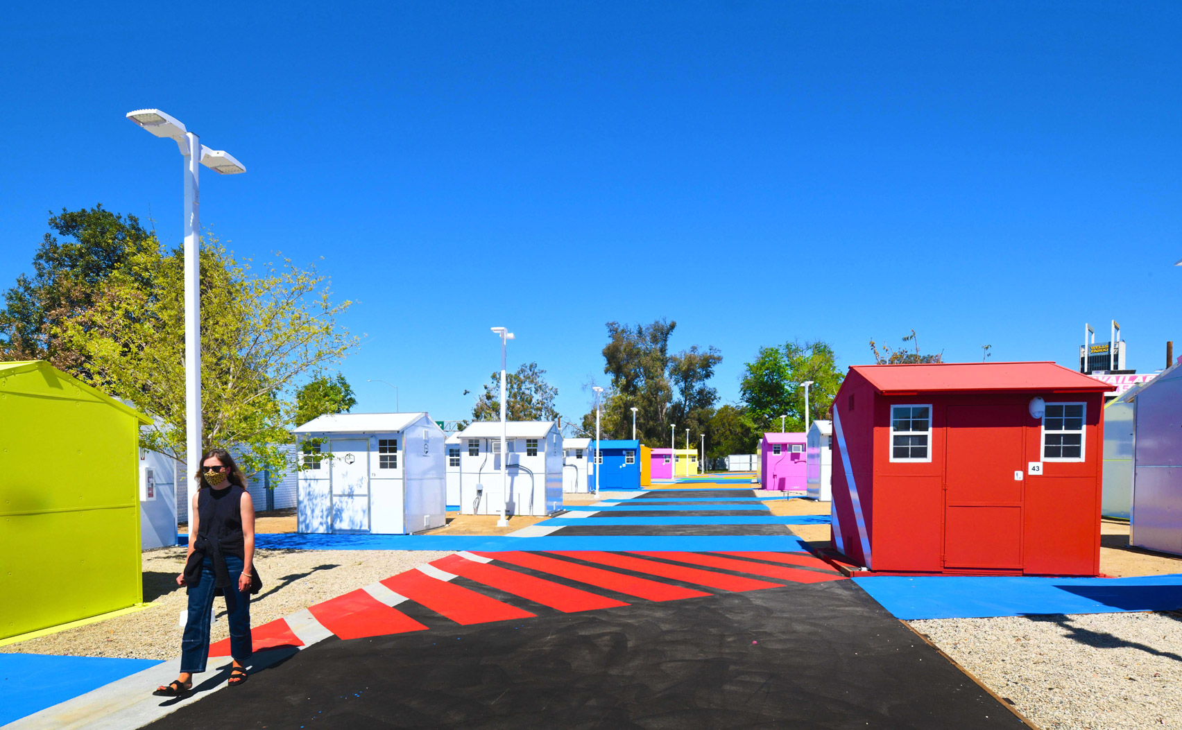 Colourful homeless shelters by Pallet in LA