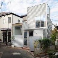 A tiny house in Tokyo features in today's Dezeen Weekly newsletter