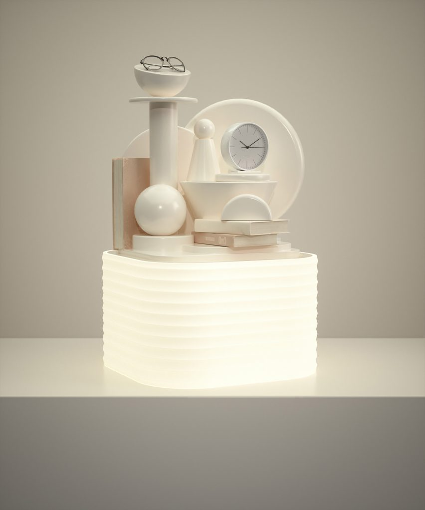 Glowing bedstand lamp