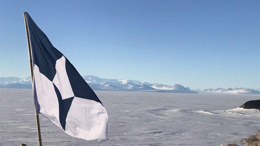 Antarctica flag at McMurdo Station