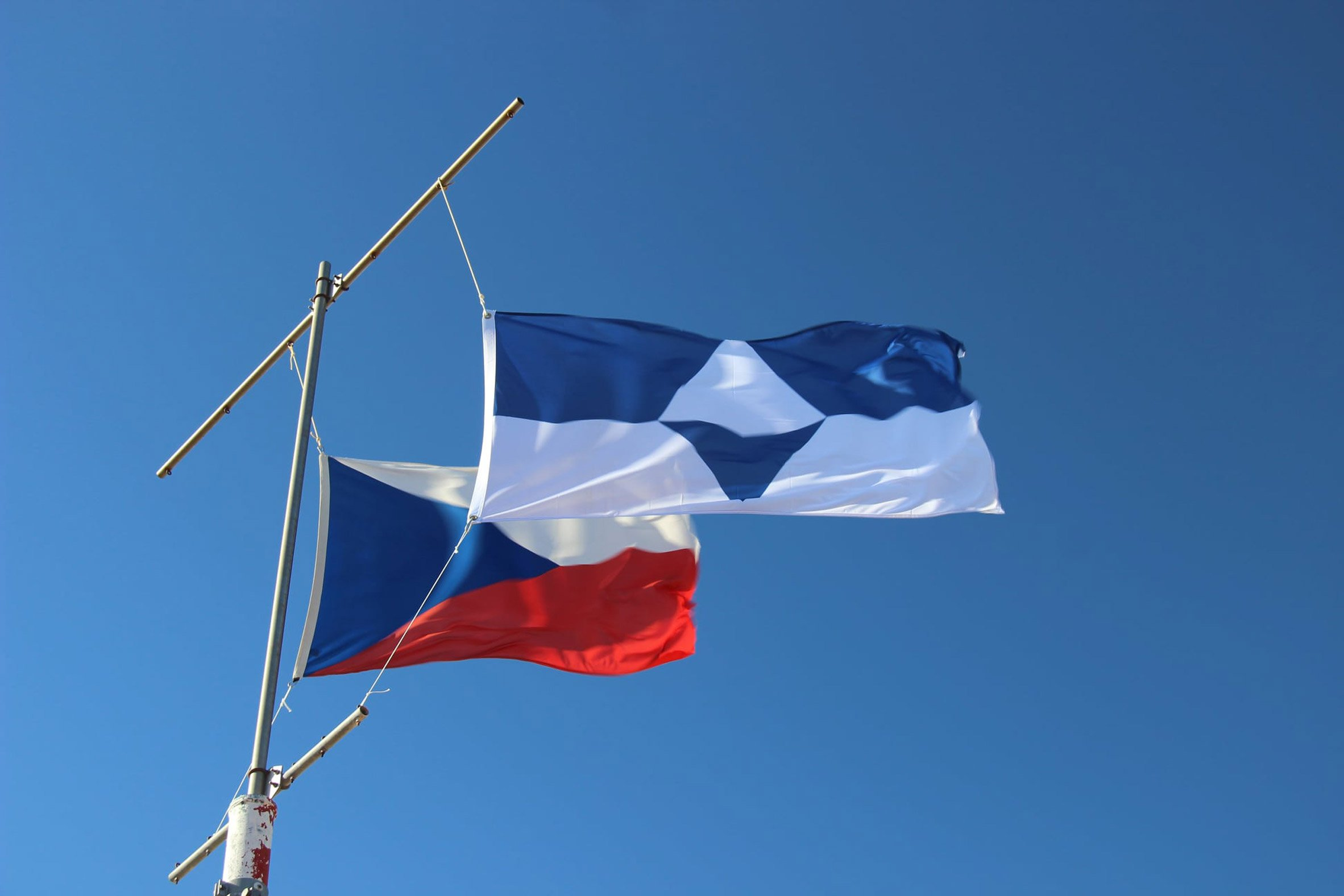 True South flag at the Czech Republic's Mendel Polar Station