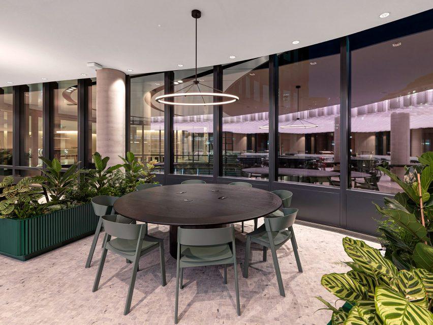Workspaces in lobby