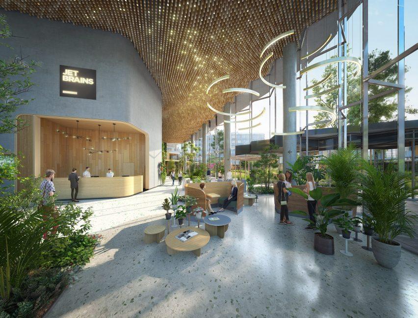 The design will have planters and biophilic design elements UNStudio