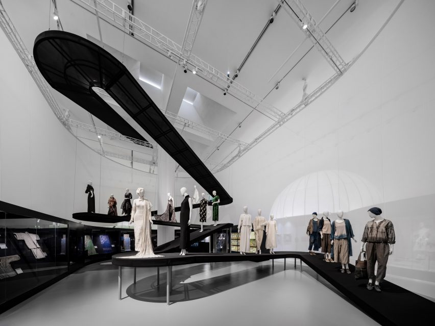 The ramp has a dark mesh wrap by Studio 10