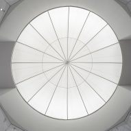 It has a domed ceiling