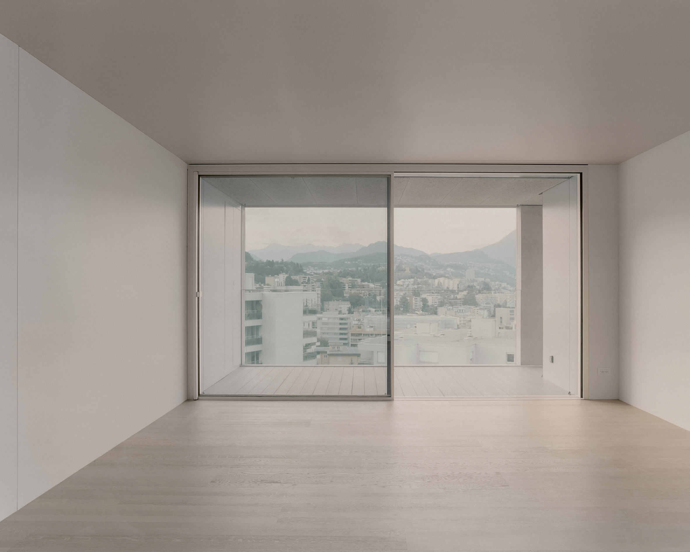 Apartment have views out to the mountain range