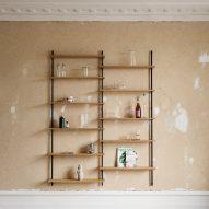 Wall-mounted shelves by Moebe