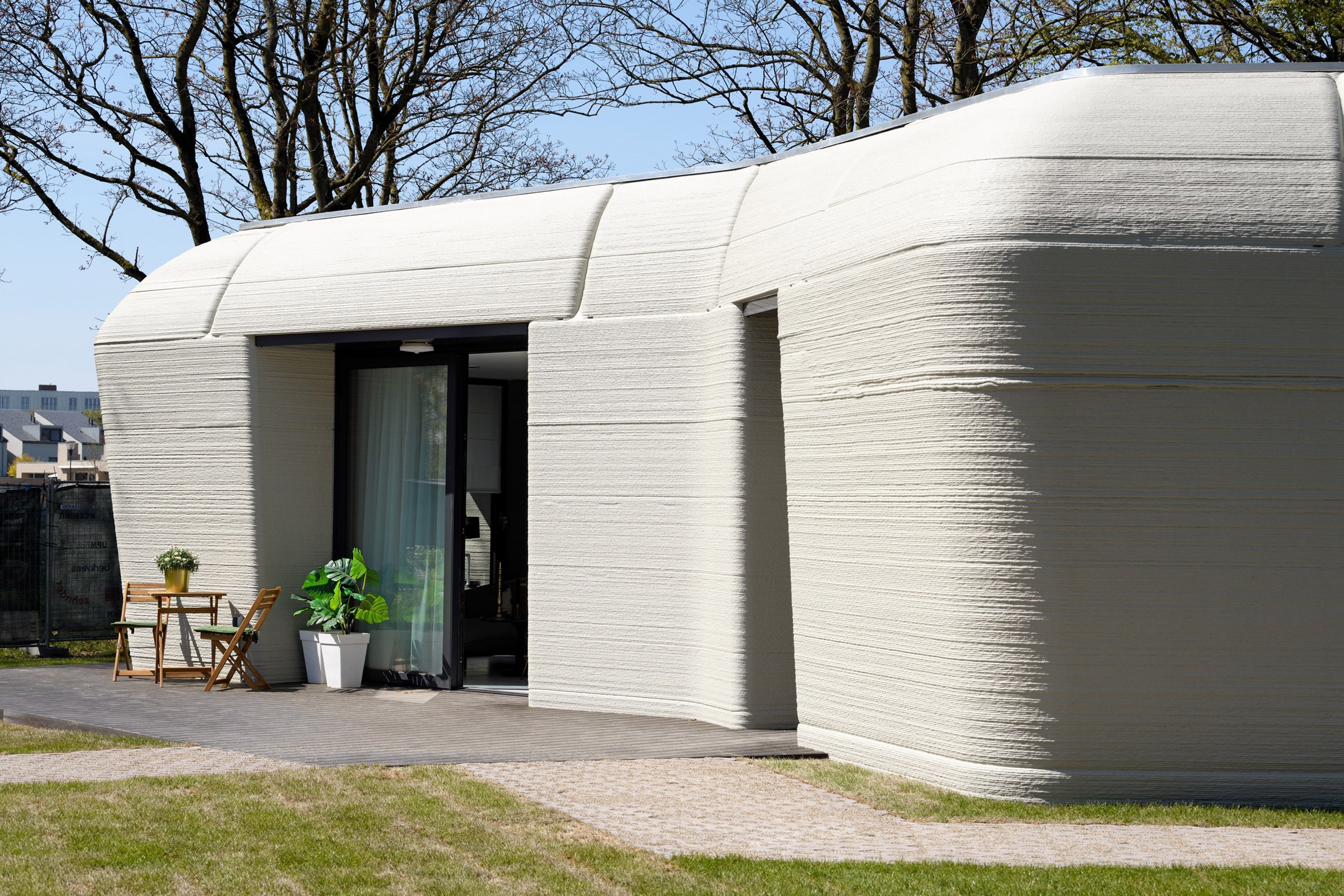 The Project Milestone home was printed using concrete