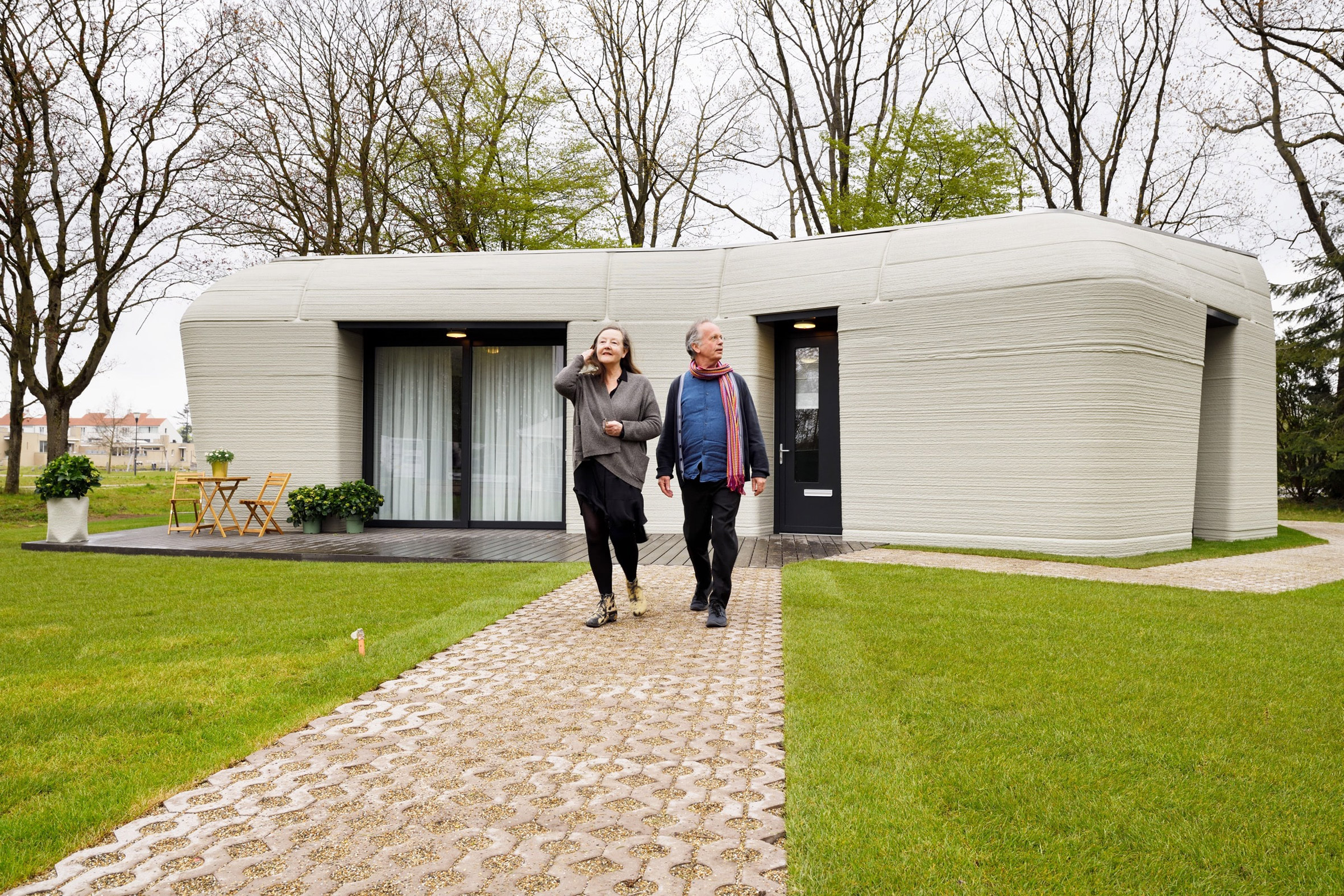 The 3D-printed home forms part of a housing scheme named Project Milestone