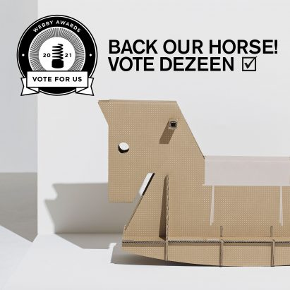 Back our Horse! Vote for Dezeen to win a Webby Award