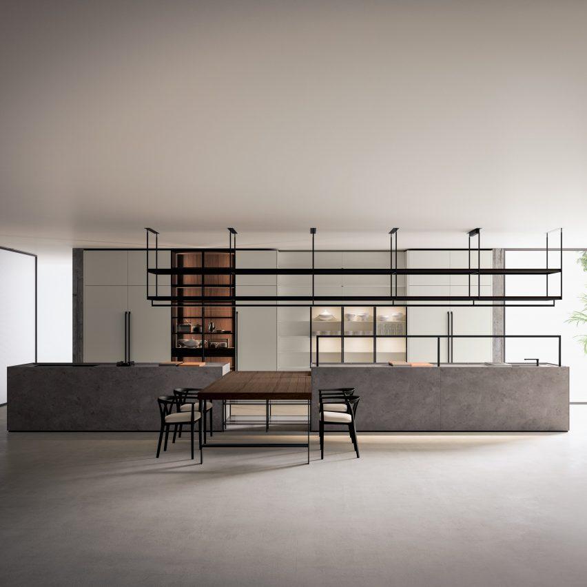 Combine Evolution kitchen by Piero Lissoni for Boffi