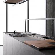 Dark grey doors on Combine Evolution kitchen by Boffi