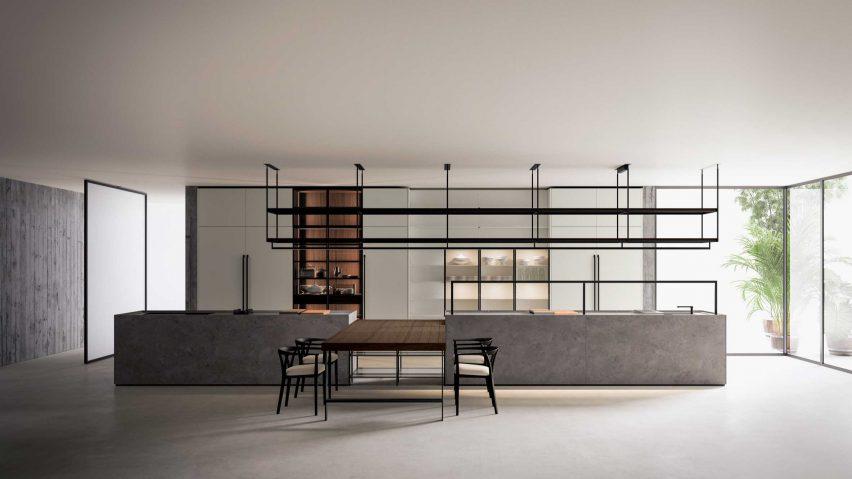 Combine Evolution monobloc kitchen by Piero Lissoni for Boffi