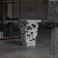 Hand-carved Altar tables by EWE Studio