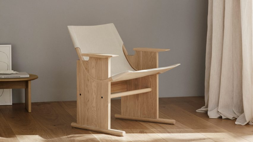 Sling Lounge Chair in an interior