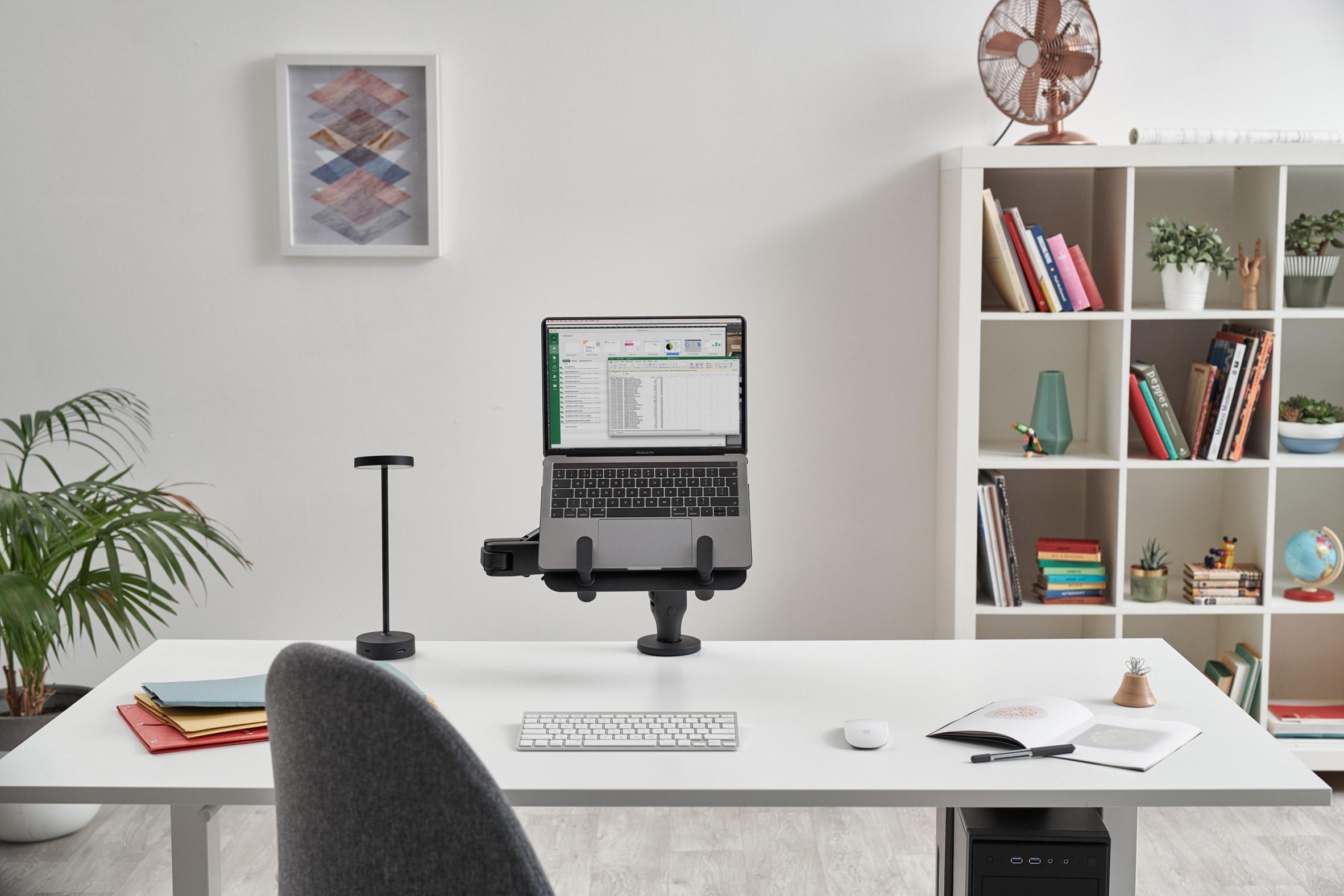 Black Lolly lamp on a desk