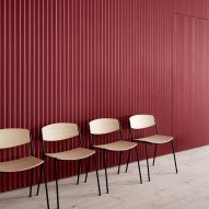 Lynderup chairs by Borge Mogensen with black legs and plywood seat