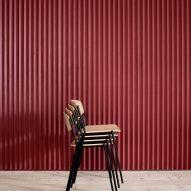 Stacked Danish Modern chairs