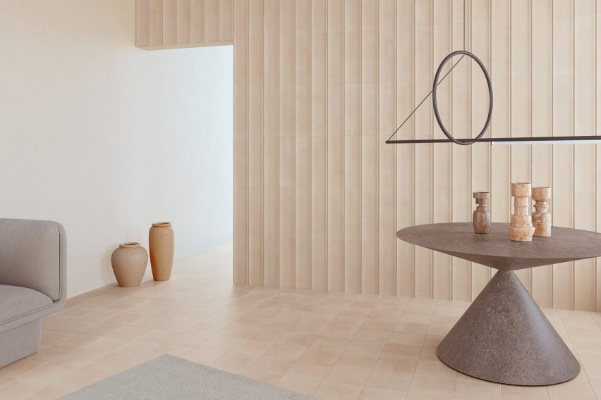 Beige Bow wall tiles