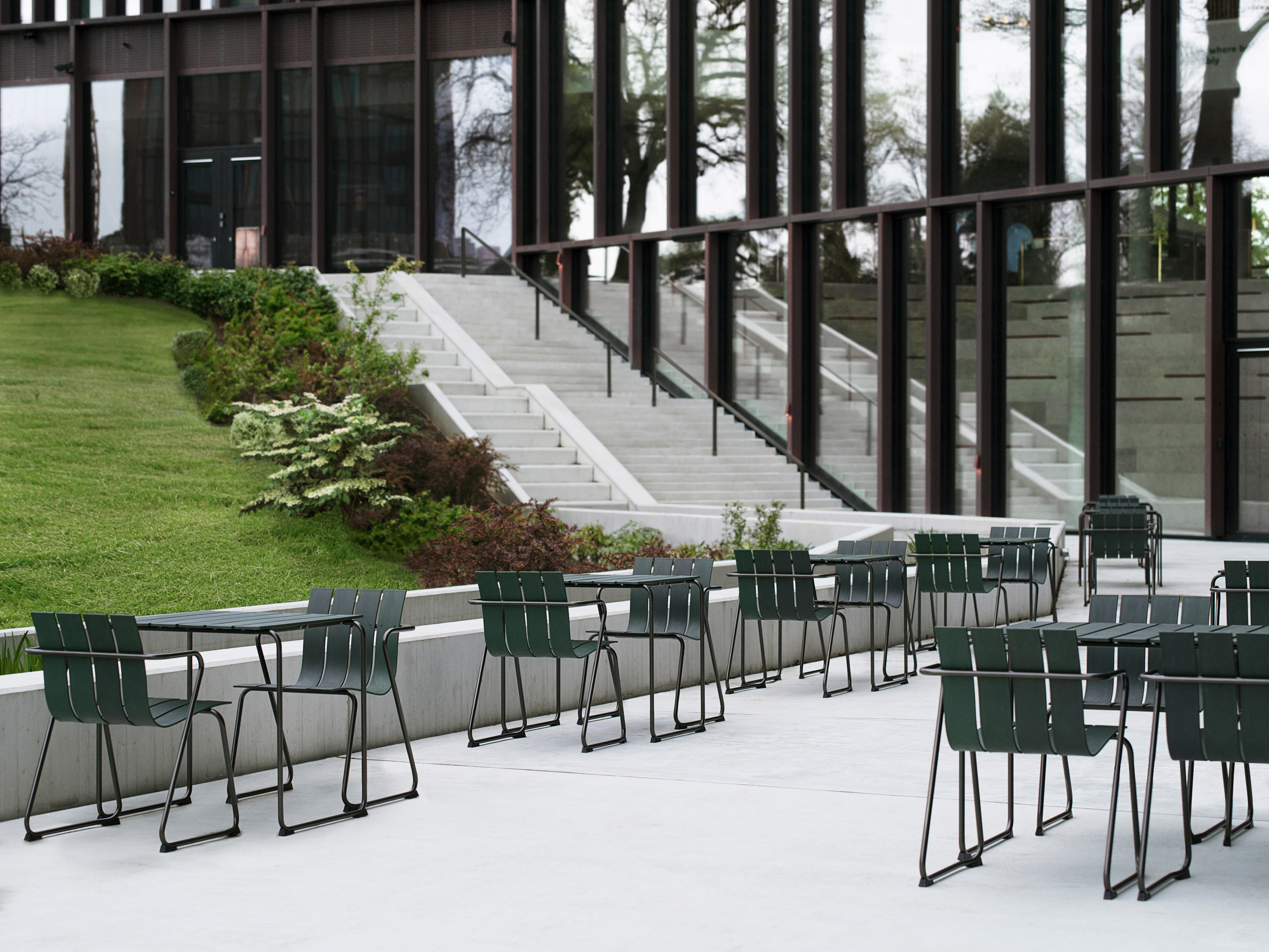 Mater outdoor seating on a patio