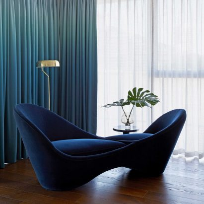 Mobius loveseat by Lauren Colquhoun for Bazaar