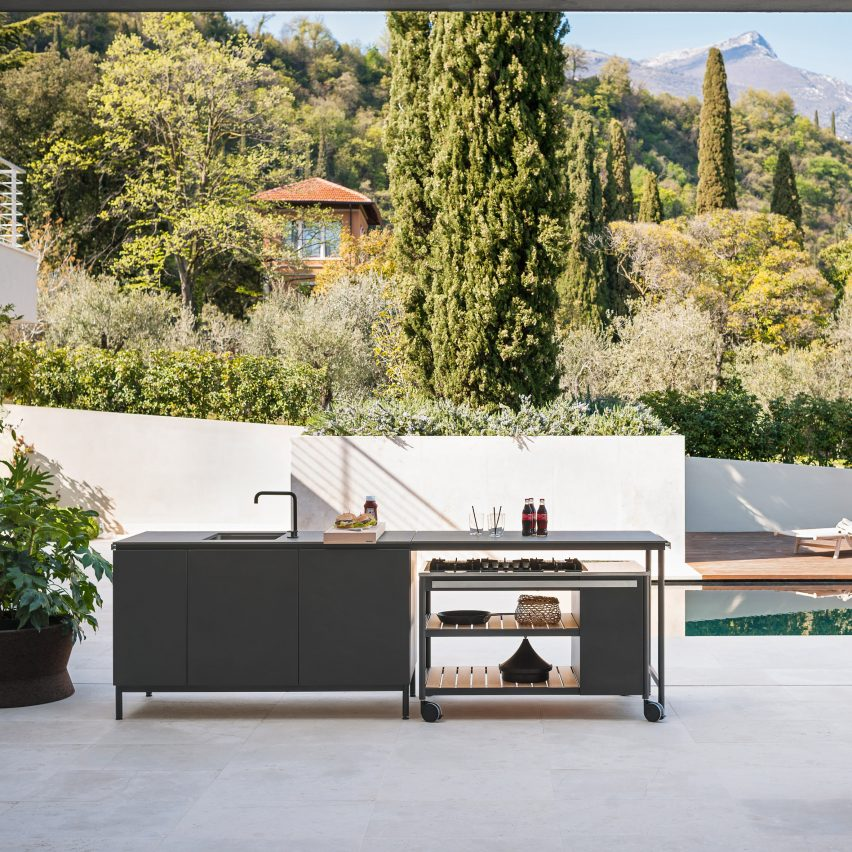 Norma outdoor kitchen by Rodolfo Dordoni for Roda