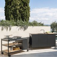 Norma outdoor kitchen by Rodolfo Dordoni for Roda