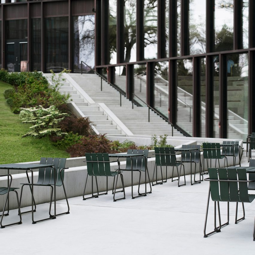 Ocean OC2 outdoor seating by Jøergen and Nanna Ditzel for Mater
