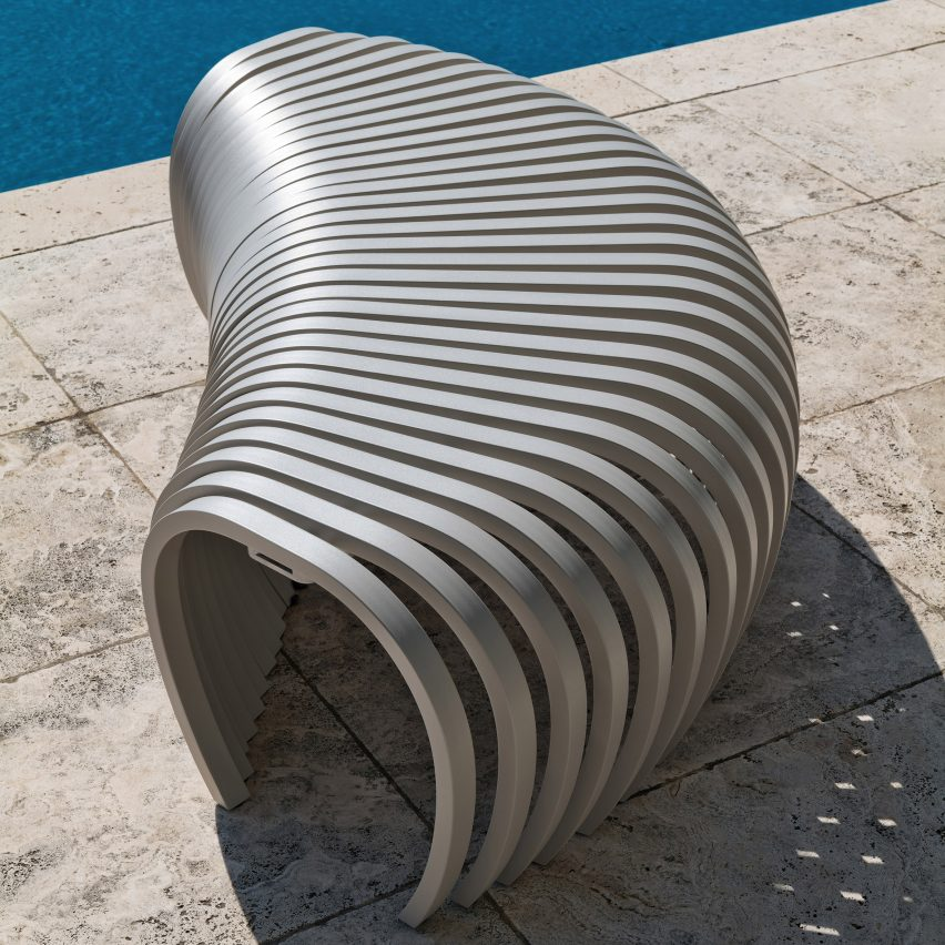 Ribs outdoor bench by Stefan Lie for DesignByThem