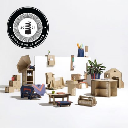 Dezeen x Samsung Out of the Box Competition wins Webby Award