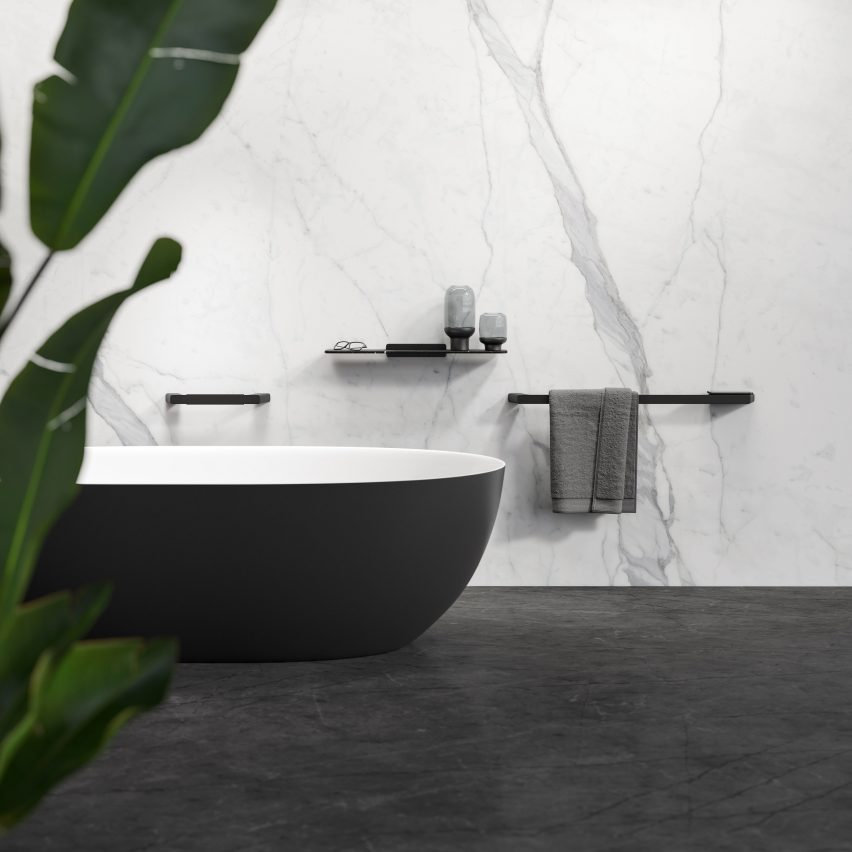 Shift 60-centimetre towel rail by VanBerlo for Geesa
