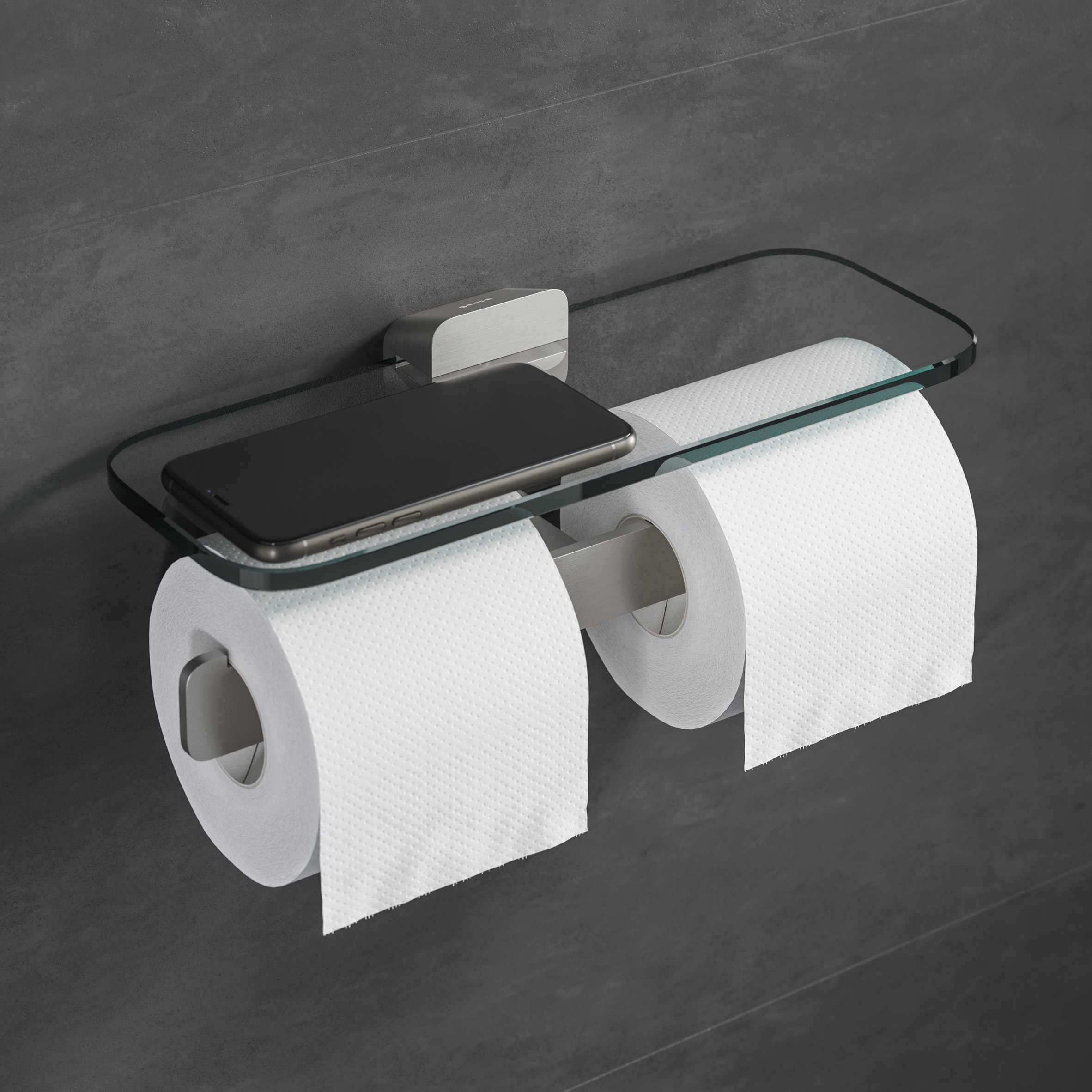 Shift toilet roll holder by VanBerlo for Geesa
