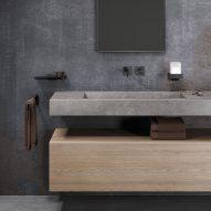 Geesa Shift 45-centimetre towel rail with black metal finish